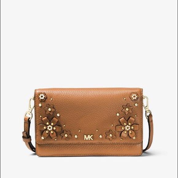 d3f6304120aa 💥MICHAEL KORS💥 Floral Pebbled Leather Crossbody.  M_5b90e24c74359b3b4d3362d5